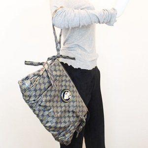 GUCCI Guccissima Metallic Grey-Blue Clutch #22042